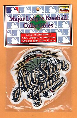 "OFFICIAL 2002 MLB ALL STAR GAME 5 1/4"" JERSEY PATCH MILWAUKEE BREWERS in PACKAGE"