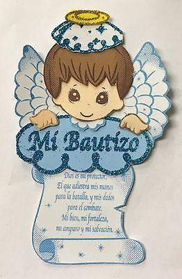 10pc Bautizo Baptism Centerpiece Decoration Foam Girl-Boy Favor Angel Prayer (Angels Decorations)