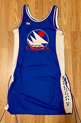 NBA San Diego Clippers Hardwood Classics Jersey Dress size M Retro Basketball