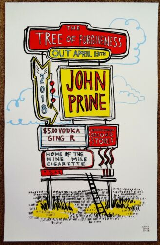JOHN PRINE Album POSTER Tree Of Forgiveness 11x17