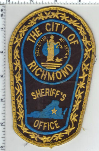Richmond City Sheriff (Virginia) Uniform Take-Off Shoulder Patch from the 1980