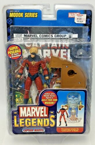 "Marvel Legends Captain Marvel Modok Control Panel Series 6"" Action Figure Toybiz"