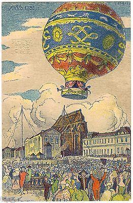 POSTCARD SWISS 1909 ZURICH GORDON BENNETT FLIGHT EVENT BALLOON SIGNED E. STIEFEL
