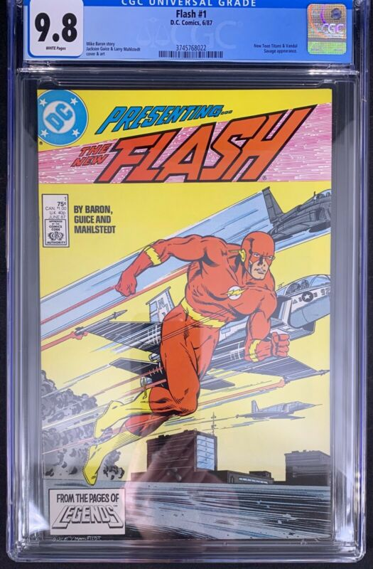 Flash #1 CGC 9.8  6/87 3745768022 - New Teen Titans & Vandal Savage appearance