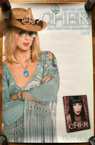 Cher The Very Best of DVD RARE original promo poster