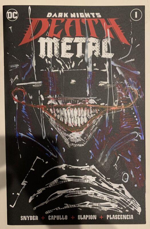 ORIGINAL LIAM SHARP BATMAN WHO LAUGHS DEATH METAL #1 BLANK COMIC ART SKETCH!