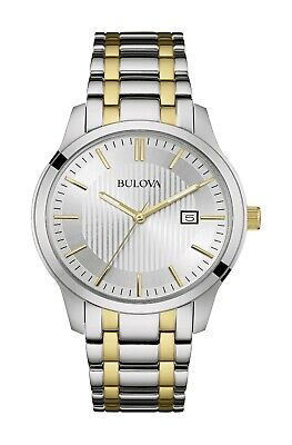 Bulova Men's Quartz Calendar Gold and Silver Tone Bracelet 40mm Watch 98B263