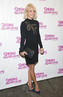 GLOSSY PHOTO PICTURE 8x10 Kelly Ripa Posing Black Dress