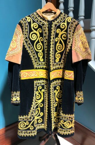 Antique IOOF Odd Fellows Guard Ceremonial Robe AND LEGGINGS Masonic Renaissance