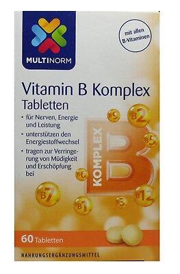 Multinorm Vitamin B Komplex Tabletten alle B-Vitamine 01x60Stk MHD:08/2020 ()