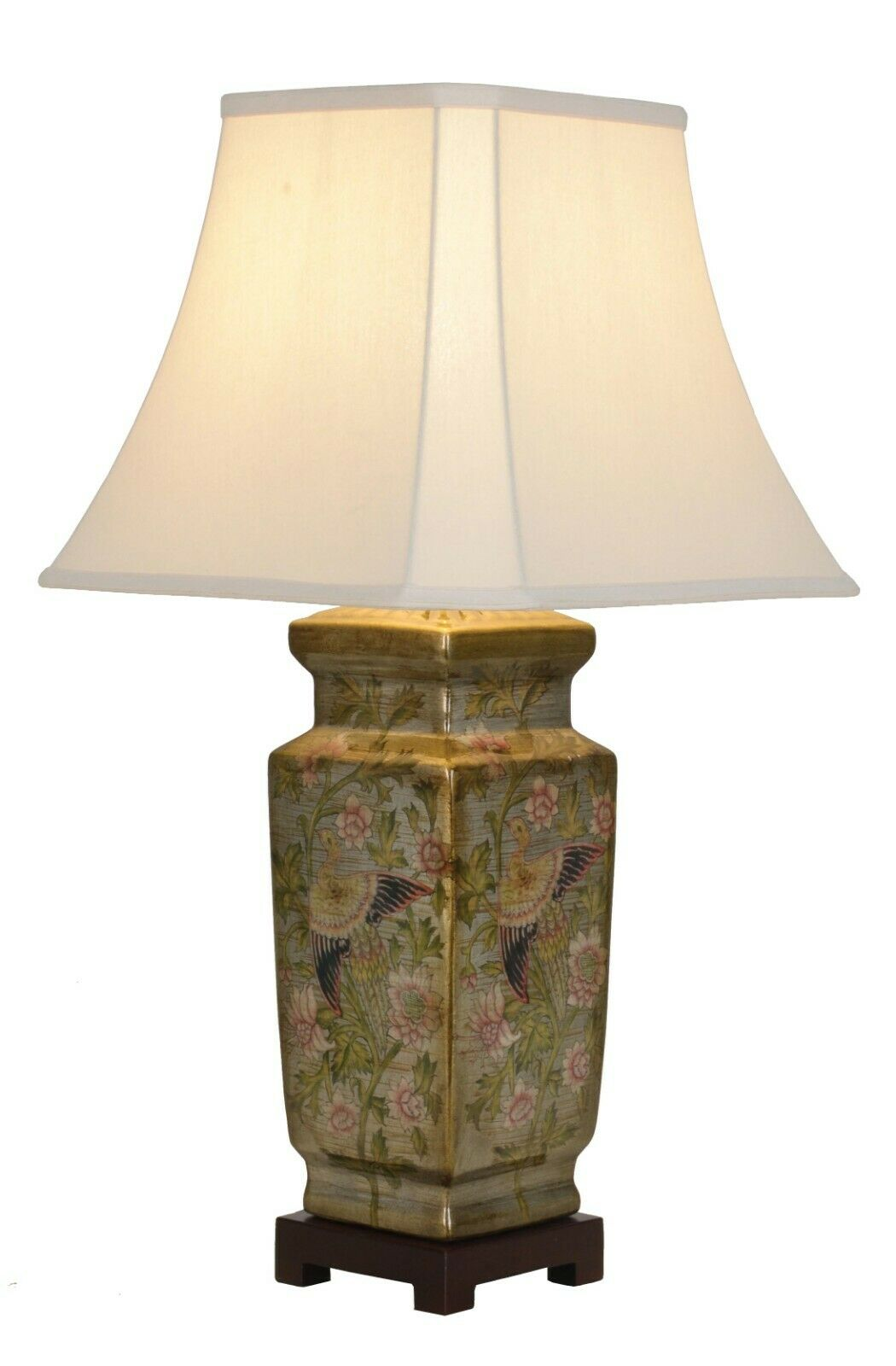NOW £40 OFF - Genuine Antique Gold Chinese Ceramic Porcelain Table Lamp (M9457)