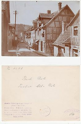Bad Orb,Straßenpartie in der Altstadt  Foto (11,9 cm x 17,0 cm) 1926