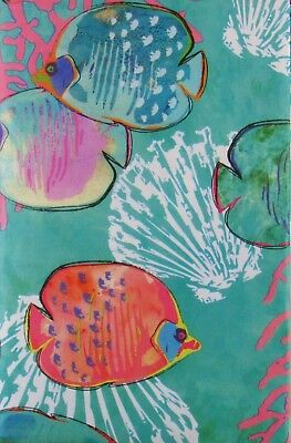 Fish Under the Sea Abstract Vinyl Flannel Back Tablecloth - Various