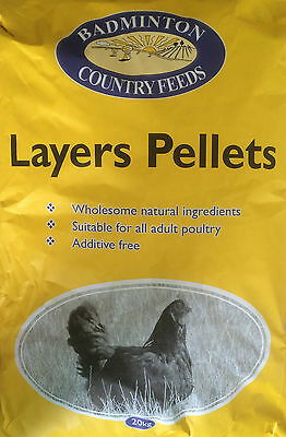 20kg Badminton  Layers Pellets - Poultry Chicken Hen Feed Food
