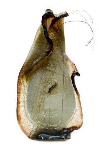 Large Daum France Pate De Verre Sculpture- Guitar by Salvador Dali, Ltd Ed 150