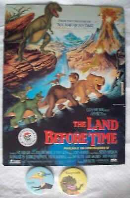 The Land Before Time Pizza Hut 1988 store display w/ Sharptooth & Petrie (The Hut Store)
