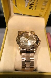 Brand new gold Invicta men's watch