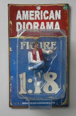 "ADAM SITTING MAN AMERICAN DIORAMA 1:18 Scale Figurine 3"" MALE Figure"