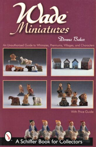 Wade Miniature Ceramics - Whimsies Premiums Villages Characters / Book + Values