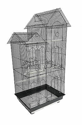 Bird Cage Finch Budgies Canary House Shaped Small 808A Black