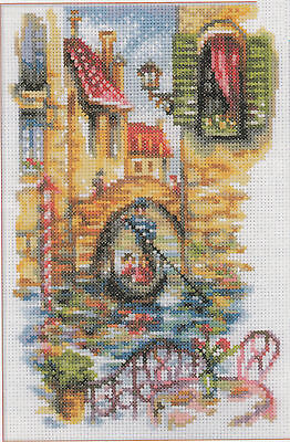 Cross Stitch Kit   Rto Picturesque Canals Of Venice  Italy  M294