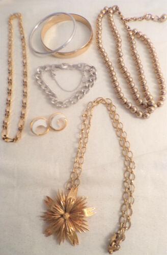 Vintage Monet  Lot 3 Necklaces  3 Bracelets  1 Pair of Earrings
