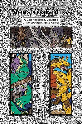 Adult Fantasy Coloring Book ~ Unique Art With Stories ~ Monstroglyphics: Vol...