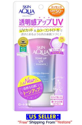 Rohto Skin AQUA ToneUp UV Essence Sunscreen 80 SPF 50+ PA++++ Waterproof Award#1