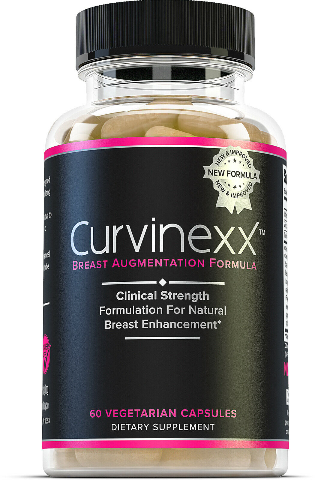 CURVINEXX Natural Breast Lifting Pills & Augmentation Supplement, 60 veggie caps
