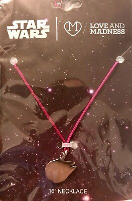 "Love and Madness Star Wars Millennium Falcon 16""  Necklace on Chord New"