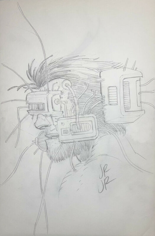 JOHN ROMITA JR. Weapon X Original Art Sketch Wolverine!