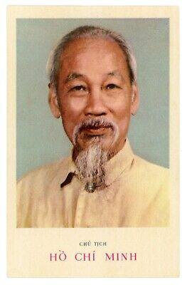 1970s Portrait Ho Chi Minh Vietnam leader Vietnamese vtg unposted Postcard
