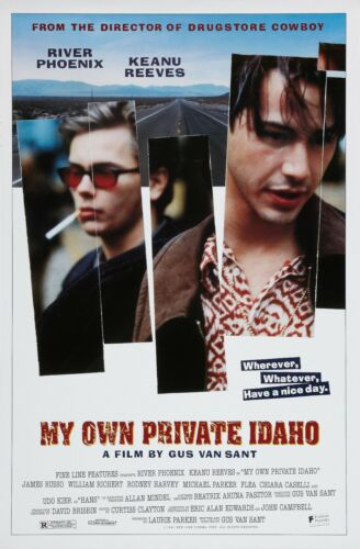 """My Own Private Idaho movie poster  : 11"""" x 17"""" : Keanu Reeves, River Phoenix"""