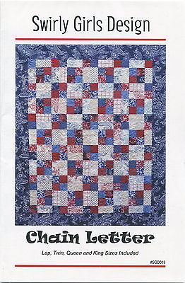 Chain Letter ~ Quilt Quilting Pattern ~ by Swirly Girls Design SGGD019
