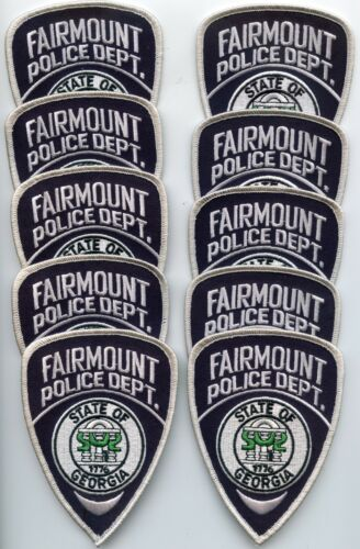 FAIRMOUNT GEORGIA Patch Lot Trade Stock 10 Police Patches POLICE PATCH