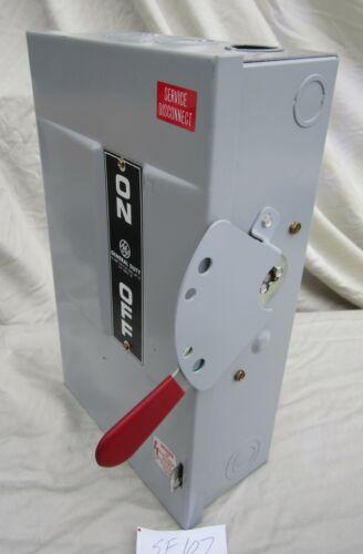 Ge 60 Amp Fusible Safety Switch Tg4322 240 Vac 1 Ph 2 Pole Nema 1