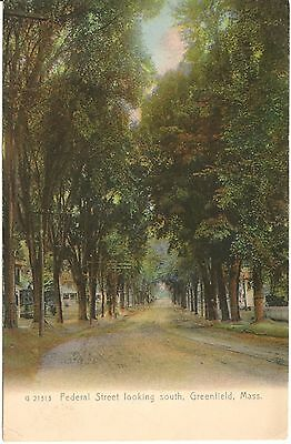 Federal Street Looking South Greenfield Ma Postcard