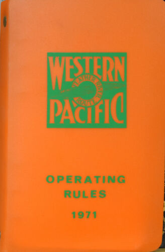 Western Pacific Operating Rule Book 1971