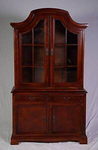 Attractive French style timber display cabinet,DELIVERY AVAILABLE Oakford Serpentine Area Preview