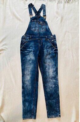 Vintage Overalls & Jumpsuits Blue Spice Bib Jean Denim Overalls Women's Junior Size 9 $12.00 AT vintagedancer.com