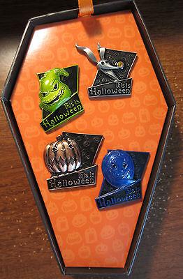 Disney This Is Halloween 4 Pin Coffin Box Set Jack Sally Oogie Zero NBC LE1000 (This Halloween Disney)