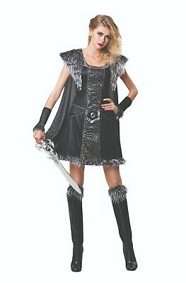 Ladies Fancy Dress Medieval Warrior Princess Costume Gothic Viking Roman (AF075)](Warrior Angel Costume)