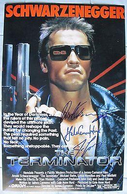 Arnold Schwarzenegger   James Cameron  1 Signed 11X17 Photo Dc Coa  Terminator