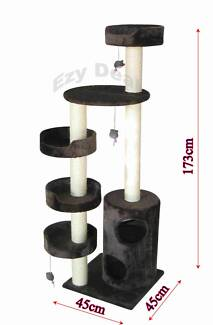 Brand New 173cm Cat Tree Scratch Post Scratching Pole Toy * ED127