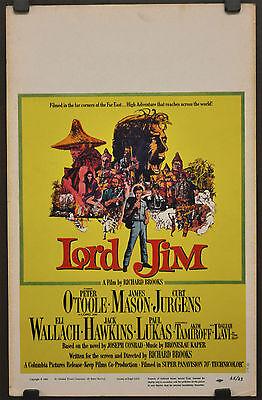 Lord Jim 1965 Orig 14X22 Poster Film Peter o' Toole James Mason Cagliata Jurgens