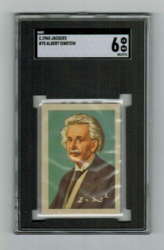 SGC 6 ALBERT EINSTEIN 1960 Chocolate Card HIGHEST EVER GRADED by PSA or SGC