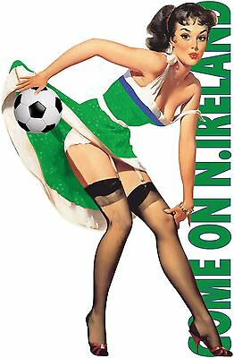 COME ON NORTHERN IRELAND Football T Shirt MENS SEXY PIN UP GIRL 2017 SOCCER TOPS