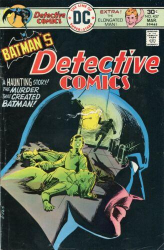 Detective Comics #457 1st App Leslie Tompkins Batman Comic Book VG 4.0 DC 1976