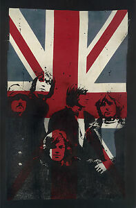 VeeBee-Limited-Edition-Print-Pink-Floyd-on-Vintage-Union-Jack-XL-Shine-on-yo