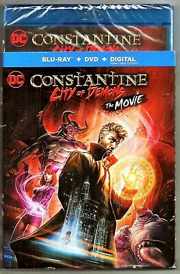DC Constantine City Of Demons The Movie Blu-ray + DVD + Digital Brand New